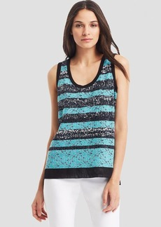 Kenneth Cole New York Precious Lace Stripe Tank