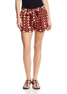 XOXO Juniors Printed Cuffed with Self Belt Short