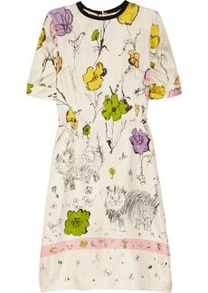 Marni Scratchy Cat printed silk-twill dress