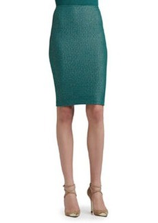 St. John Collection Space Dyed Tack Knit Pencil Skirt