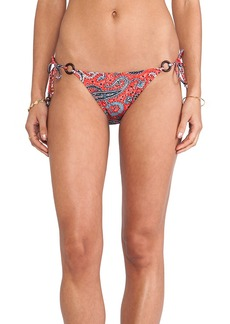 Shoshanna Ring String Bikini Bottom in Red