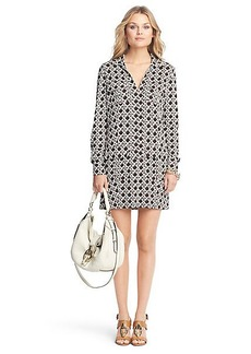 Dilly Printed Silk Jersey Tunic Dress
