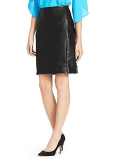 Rita Two Leather Pencil Skirt