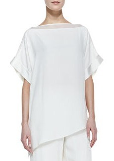 Go Silk Silk Boat-Neck Easy Tunic, Petite