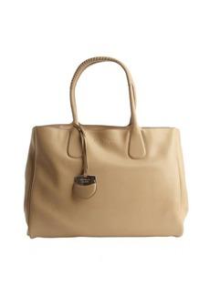 Salvatore Ferragamo sesame leather 'Nolita' top handle tote