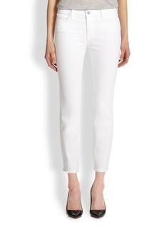 J Brand Mid-Rise Cropped Rail Skinny Jeans