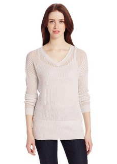 Calvin Klein Jeans Women's Open-Knit V-Neck Tunic