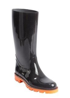 Gucci orange and black rubber boots