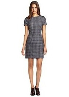 Short-Sleeve Check Dress