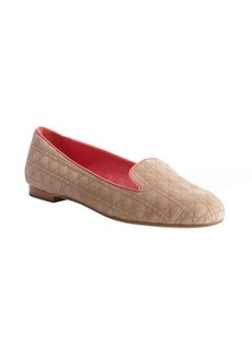 Christian Dior natural beige slipper loafers