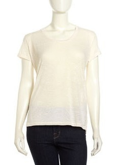 Paper Denim & Cloth Tidal Burnout Tee, Greige