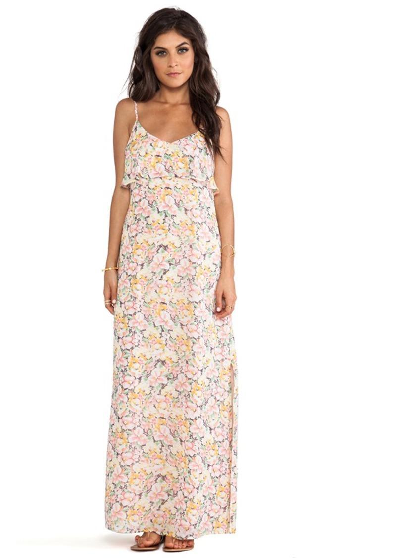 Joie Hydeia Garden Floral Maxi Dress in Pink