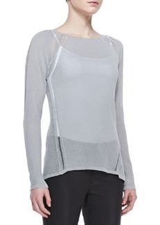 Elie Tahari Labria Knit Long-Sleeve Sweater
