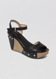 Lucky Brand Open Toe Platform Wedge Sandals - Marshaa
