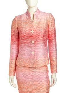 Lafayette 148 New York Spectrum Ombre Tweed Jacket