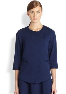 Saks Fifth Avenue Collection Ponte Asymmetrical Jacket