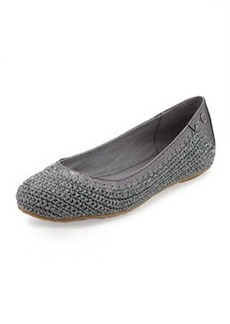 The Sak Frannie Slip-On Crochet Flat, Dove Sparkle