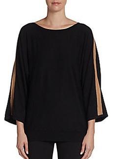 Joan Vass Contrast-Paneled Pullover