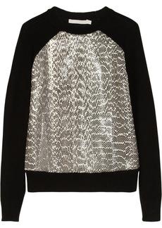 Jason Wu Elaphe-paneled wool sweater