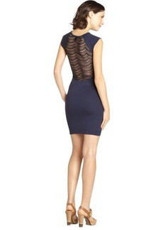 French Connection navy blue 'Dani' lace jersey dress