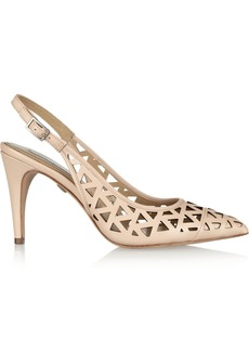 Diane von Furstenberg Addison cutout leather slingbacks