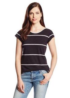 Calvin Klein Jeans Women's Scoop-Back Cap-Sleeve Tee