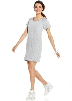 Style&co. Petite Short-Sleeve Heathered Dress