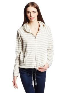 Lucky Brand Women's Striped Zip-Up Hoodie Sweatshirt