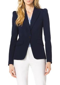Michael Kors Puff-Shoulder Wool Blazer