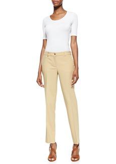 Michael Kors Stretch Wool Skinny Pants, Beige