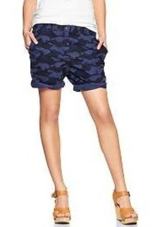 Camo boyfriend roll-up shorts