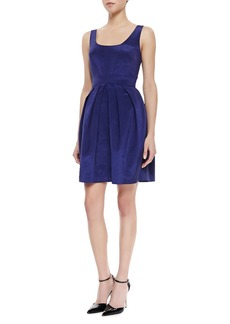 Shoshanna Sleeveless Pleated Skirt Dress, Ink Blue