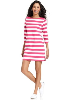 Style&co. Sport Petite Three-Quarter-Sleeve Striped Dress