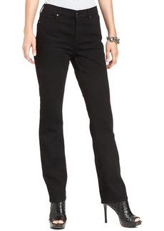 DKNY Jeans Petite Jeans, Soho Straight-Leg, Caviar Wash