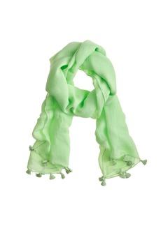 Tassel-trim scarf
