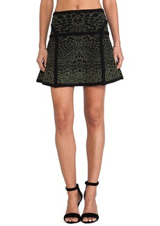 Diane von Furstenberg Flote Skirt in Dark Green