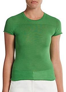 Calvin Klein Collection Lerred Wool/Cashmere/Silk Tee