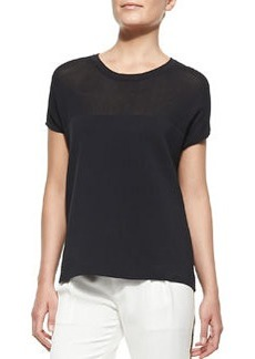 Nicola Mix-Fabric Easy Tee   Nicola Mix-Fabric Easy Tee