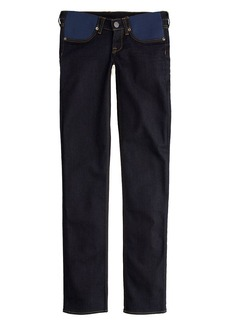Stretch maternity matchstick jean in dark rinse