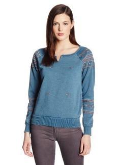 Lucky Brand Women's Indigo Embroidered Sweatshirt