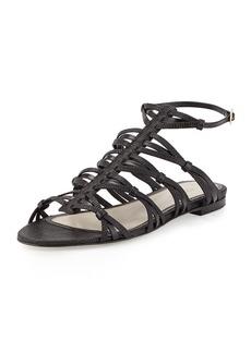 Jason Wu Strappy Flat Sandal, Black