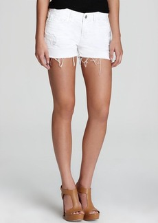 J Brand Shorts - Cut Off in White Vixen