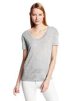 Michael Stars Women's Short Sleeve Scoop Neck with Pocket