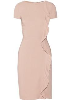 Valentino Ruffle-trimmed crepe dress