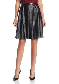 Calvin Klein Women's Perforated-Pleat Skirt
