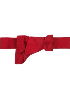 Valentino Bow-detailed grosgrain belt
