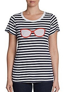French Connection Striped Sunglasses Tee
