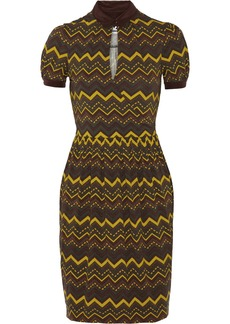 M Missoni Wrap-effect printed stretch-jersey dress