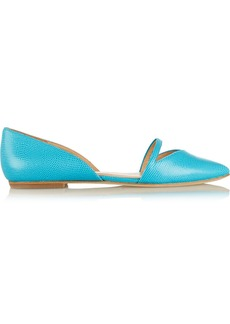 Sigerson Morrison Halia lizard-effect leather flats