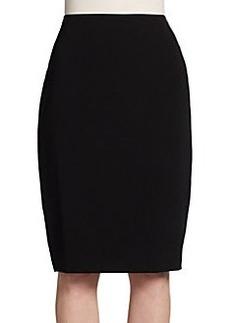 Lafayette 148 New York Silk-Inset Pencil Skirt
